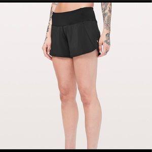 "Lululemon Run times shorts Black 4"" inseam"